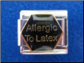 Allergic to Latex Magnetic 9 mm italian charm