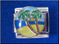 Tropical Beach Palm Tree Magnetic charm