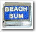 Beach Bum, blue Italian Charm