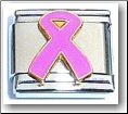 Breast Cancer Pink Ribbon Italian Charm