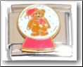 Snow Globe with Bear Italian Charm