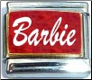 Barbie Red Glitter Italian Charm