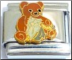 Bear with Cat and Flowers Italian Charm