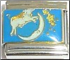 Cow jumped over the Moon Stars Italian Charm