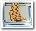 Checkered Boot Italian Charm