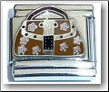 Brown Designer Purse Italian Charm