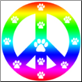 Peace Paws Magnet