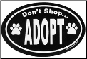 Don't Shop Adopt Oval Magnet