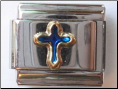 Blue Cross 18 kt Italian Charm