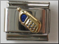 Blue Cell Phone 18 kt Italian Charm