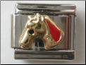 Horse Red 18 kt Italian Charm
