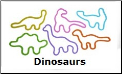 Dinosauers 12 Classic Silly Bandz