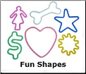Fun Shapes 12 Classic Silly Bandz