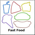 Fast Food 12 Classic Silly Bandz