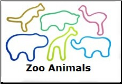 Jungle Animals 12 Classic Silly Bandz