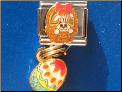 Easter Bunny with dangle Egg Italian charm