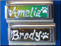 Custom Name w/ paw Glitter Mood Superlink
