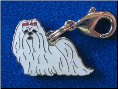 Dog Dangle Charm   Maltese Dog