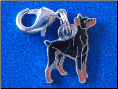Dog Dangle Charm   Doberman Dog