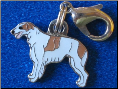 Dog Dangle Charm   Borzoi Dog- 2 colors!