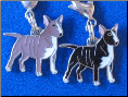 Dog Dangle Charm   Bull Terrier Dog 2 colors