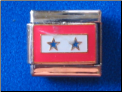 Two star Military serving ribbon