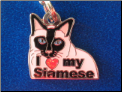 ZP charm   I love my Siamese Cat