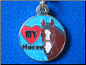 I love my horse   blue   Zipper - Pull charm