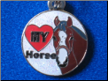 I love my horse   white   Zipper - Pull charm