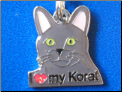 ZP charm   I love my Korat Cat