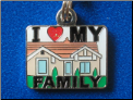 I love my Family   white  Zipper - Pull charm