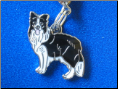 Dog Dangle Charm   Border Collie