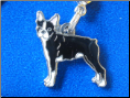 Dog Dangle Charm   Boston Terrier dog