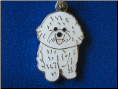 Dog Dangle Charm   Bichon Frise dog