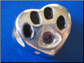 Bead  Sterling Dog Paw September birthstone