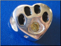 Bead   Sterling Dog Paw w/August birthstone
