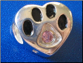 Bead Sterling Dog Paw December birthstone