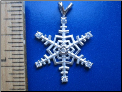 Snowflake Sterling Silver Pendant