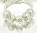 Clear April  Crystal Bead Silver Core