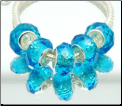 Aquamarine March Crystal Bead Silver Core
