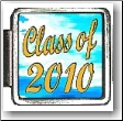 Class of 2010 Blue Clouds Italian charm
