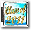 Class of 2011 Blue Clouds Italian charm