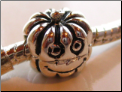 Pumpkin Clip Lock Stopper European Bead