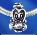 Goofy Dog Sterling Silver Bead