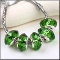 Lucky Shamrock Green Crystal Bead Silver Core