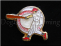 Baseball Swing Circle Bat  Floating Locket Charm