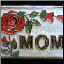 Mom Red Rose and Petals Floating Locket Charm