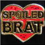 Spoiled Brat Red Heart  Floating Locket Charm