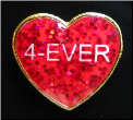 4-Ever Valentine RED Glitter Heart Locket Charm