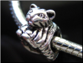Cuddly Cat Silver Bead